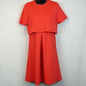 Women's size 2 asos maternity dress melon orange